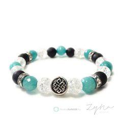 Kínai szerencsecsomó szimbólumos ásvány karkötők Pandora Charms, Beaded Bracelets, Charmed, Jewelry, Style, Bracelets, Jewlery, Jewels, Jewerly