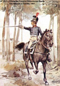 Ufficiale della milizia a cavallo Military Insignia, Napoleonic Wars, Military History, 18th Century, Military Uniforms, Drawings, Sketches, Illustration, Sailors