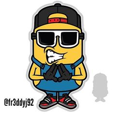 THE FRESH MINION DESING.. UP FOR GRABS... If interested email me at fernandof225@hotmail.com #vector#vectorart#illustration#minion#fresh#diamond#snapback#dope#fly#minion#kicks#branding#clothingline#teedesign#graphics#urban#style#graphicdesign#characterdesign#customdesign#logos#icon#cartoons#mascots#art#artwork#braincontrol#flylife#cool