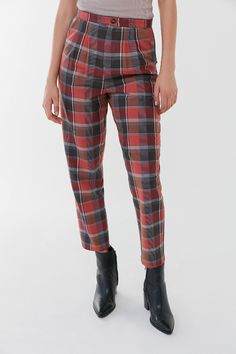 Urban Renewal Remnants Plaid Trouser Pant | Urban Outfitters