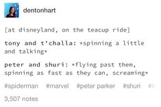 are you kidding me Tony (and probably T'Challa) would want to be spinning crazy fast and screaming too
