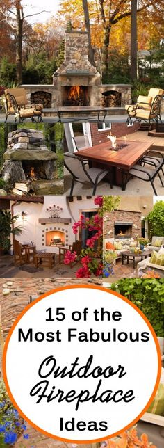 15 of the Most Fabulous Outdoor Fireplace Ideas
