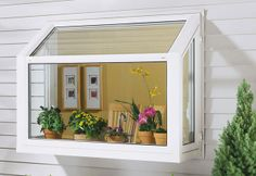 My next home improvement project, a green house kitchen window! - My next home improvement project, a green house kitchen window! Kitchen Garden Window, Kitchen Window Shelves, Garden Windows, House Windows, Kitchen Windows, Vinyl Windows, Kitchen Box, Bay Windows, Pops Kitchen