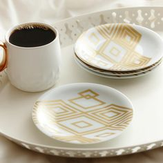 Gold Pastry Plates