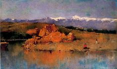 Casimiro Sainz y Saiz The river and the Guadarrama mountain range - The Largest Art reproductions Center In Our website. Low Wholesale Prices Great Pricing Quality Hand paintings for saleCasimiro Sainz y Saiz Mountain Range, Large Art, Art Reproductions, Art For Sale, River, Painting, Mountain Landscape, Scenery, Artists