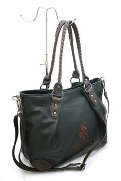 Borsa Donna Shopping con Tracolla Greenwich Polo Club Art040-8A Ecopelle Nero