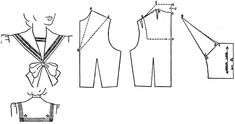 Tuppence Ha'penny: Sailor Style: Drafting a Sailor Collar