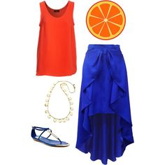 Complementary Colors - Orange & Blue, created by tommyandella on Polyvore