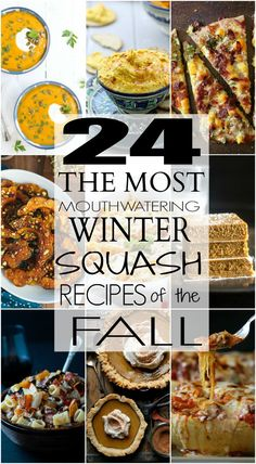 This is a roundup that you have been waiting for! Here are 24 Mouthwatering Winter Squash Recipes for the Fall! Enjoy! | joyfulhealthyeats.com