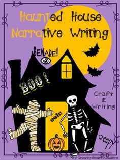 Here's the ever-popular haunted house craft and writing with easy directions and great graphic organizers with text to get your writers enthusiastic about writing. Vocabulary word banks, and helpful planners, plus stationery make this a multi-pack of tools.