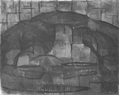 Landschap, afmetingen: 63 x 78 cm, 1911-1912