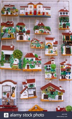 Model Andalucian Houses at Tourist Shop Marbella Spain Stock Photo