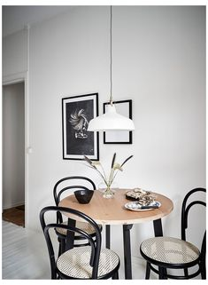 Ikea, Small Round Kitchen Table, Monochrome Interior, Petites Tables, Bentwood Chairs, Swivel Chair, Cafe Chairs, Room Chairs, Table And Chair Sets