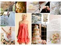 vintage coral wedding