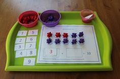 Hands-on Math: Make Ten (with free printable materials) - Empowering Parents to Teach Preschool Classroom, Kindergarten Math, Empowering Parents, Tot Trays, Making Ten, Montessori Art, Homeschool Math, Homeschooling, Educational Activities