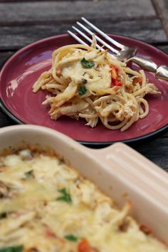 To the uninitiated, chicken spaghetti is like Tex-Mex macaroni and cheese. Get the recipe: chicken spaghetti Casserole Recipes, Pasta Recipes, Cooking Recipes, Spaghetti Recipes, Spaghetti Sauce, Cooking Ideas, Bento, Chicken Spaghetti Casserole, Chicken Pasta