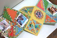 Denise Hahn made a stunning accordion mini album using Bohemian Bazaar! Love the amazing folds #graphic45 #minialbums