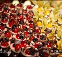 Cestinhas de Chocolate e Frutas Vermelhas