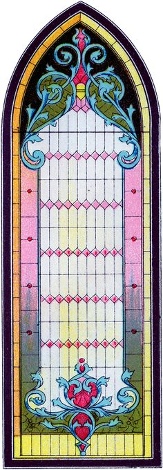 Vintage Stained Glass Gothic Window Image! - The Graphics Fairy