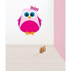 Muursticker uil #muursticker #kinderkamer #dieren #kidzstijl #uil #meisje