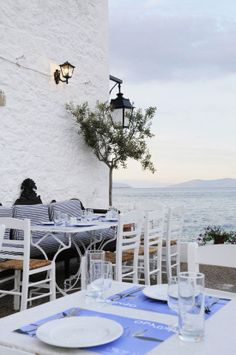 Orloff Restaurante na ilha de Spetses, na Grécia.