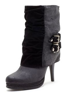 Contrast Foldover Boot