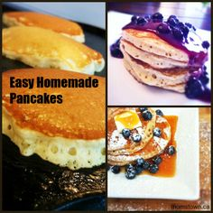 Think outside of the box!  Make these easy and delicious fluffy pancakes from scratch!
