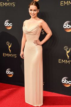 Best Dressed: Emilia Clarke at the 2016 Emmys.