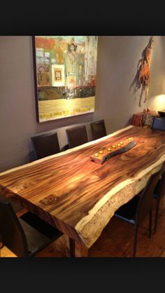 Perfect sequoia dinning room table!