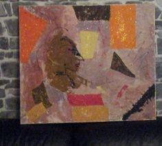 Toile peinture acrylique, huile, vernie peinte au couteau : Peintures par sand-r83