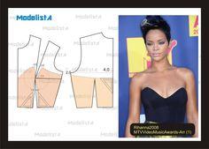 photo patron robe de soir e bustier numero 4 couture pinterest photos haute couture et google. Black Bedroom Furniture Sets. Home Design Ideas