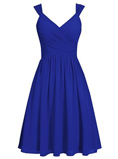 Dresstells® Short Women's V Neck Open Back Prom Dress With Straps Bridesmaid Dress Dresstells http://www.amazon.co.uk/dp/B01DXMNUC6/ref=cm_sw_r_pi_dp_cMXbxb1KH0EX9