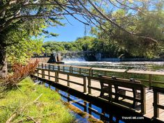 Enjoy a Short Hike Over the Scenic Hamlin Dam at Ludington State Park, Michigan . Best State Park in Michigan, perfect for kayaking, camping, bird watching, hiking and sight seeing! . . #ludingtonmichigan #ludingtonmichiganthingstodo #ludingtonstatepark #ludington #ludingtonstateparkmichigan #ludingtonmi #michiganstateparks Ludington Michigan, Ludington State Park, Michigan State Parks, Michigan Travel, Go Camping, Bird Watching, Garden Bridge, Kayaking, Things To Do