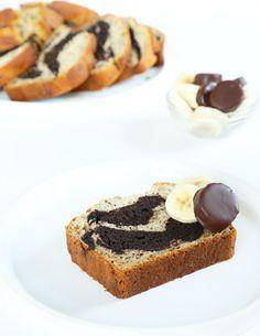 Gluten Free Banana Bread with Chocolate Swirl