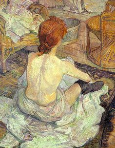 (Re-pinned from Victoria) Henri de Toulouse-Lautrec 'The Toilette' - Impressionism