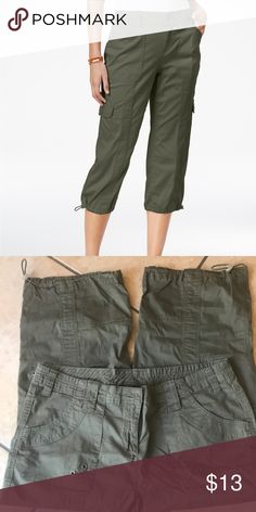 6ffc9288 Style & Co Cargo Capri Pants Style & Co Cargo Capri Pants. Size 12 Style &  Co Pants Ankle & Cropped