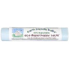 Earth Friendly Baby Eco Nappy Sacks As you would expect, they are 100% degradable and leave no harmful residues.   They are an ideal size to hold soiled nappies and have tie handles for ease of use.   - perforated roll of 50 sacks  - tie handles for easy use  - 100% degradable  - no harmful residues - handy size
