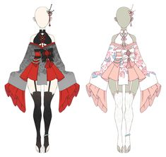Do not trace /copy / steal OUTFIT Kimono 2 (AUCTION: CLOSED) Manga Clothes, Drawing Anime Clothes, Dress Drawing, Kawaii Clothes, Anime Kimono, Anime Dress, Clothing Sketches, Dress Sketches, Fashion Design Drawings