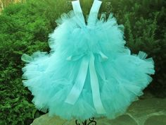 Petti Tutu Dress, ROCKSTAR AQUA PRINCESS, Sizes 1-3, 4-6 Toddlers | ElsaSieron - Clothing on ArtFire