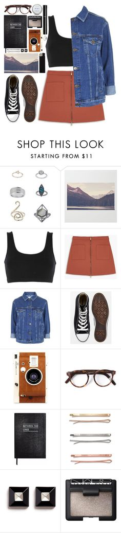 """#733 Evangeline"" by blueberrylexie ❤ liked on Polyvore featuring Topshop, adidas Originals, MANGO, Converse, LØMO, Cutler and Gross, Sloane Stationery, Madewell, Givenchy and NARS Cosmetics"