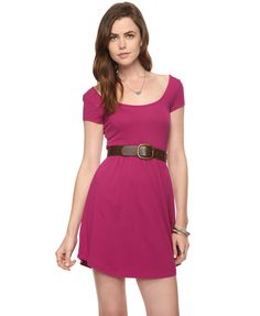 Scoop Cut Knit Dress | FOREVER21 - 2000027443