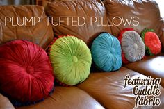 I am LOVING these tufted pillows from @sewcanshe. I think my new house needs a few!