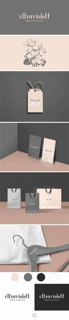 beautiful feminine logo and branding. pretty floral brand design, sophisticated look and gorgeous typography. lovely packaging and stationery.