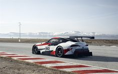 Download wallpapers Toyota GR Supra Racing Concept, 2018, racing track, supercar, tuning Supra, sports coupe, Toyota, GAZOO Racing