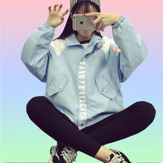 Rainbow Smiles Windbreaker #windbreaker #jacket #ootd #aesthetic #forsale #womens #clothing #fashion