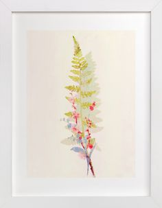 Spring Fern and Flowers by hadley hutton at minted.com
