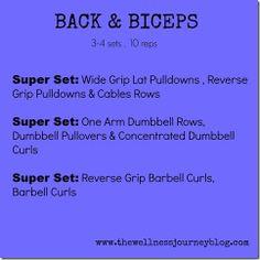 Back & Biceps Workout by @jenwellnessjourney