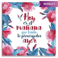 "Azulejo cuadrado ""Frases optimistas"""