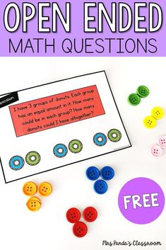 Grab these FREE open ended math word problems, perfect for Kindergarten or First Grade! Your students will have fun using … Kindergarten Math Worksheets, In Kindergarten, Math Activities, Subtraction Kindergarten, Math Literacy, Preschool Math, Teaching First Grade, 1st Grade Math, Teaching Math