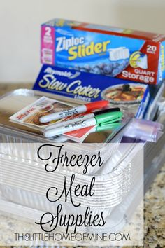 Freezer Meals: Freezer Meal Supplies by This Little Home of Mine